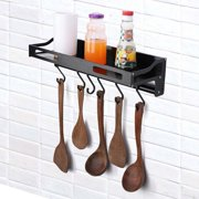 Ccdes 40cm Wall Mounted Hanging Pots and Pans Rack.Kitchen Storage Pot Holder Pot Rack, Non-Perforated Kitchen Rack