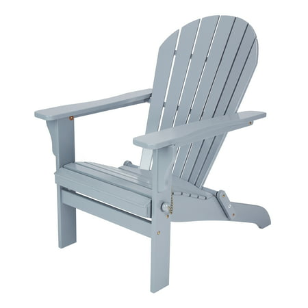 Mainstays St. Barrows Folding Wood Adirondack Chair, Multiple Colors