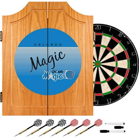 Orlando Magic Hardwood Classics NBA Wood Dart Cabinet by