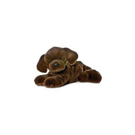 Lil; Lucky the Chocolate Lab Mini Flopsie - 8; by Aurora - 31257-AR