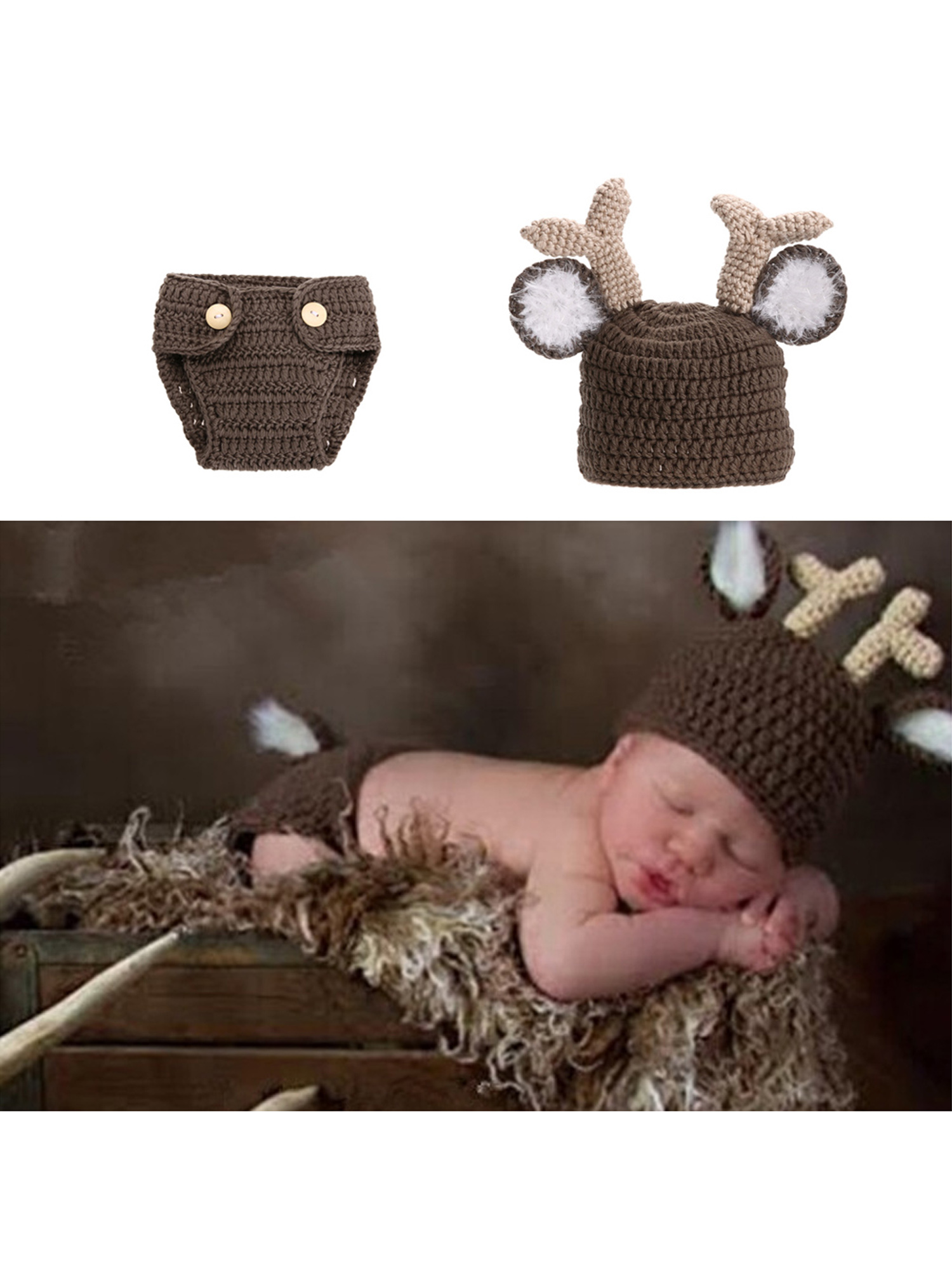 f3b32d9fc Newborn Baby Girls Boys Crochet Knit Costume Photography Props ...