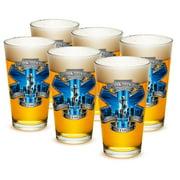 EMT 16 oz. Pint Glass 911 EMS Blue Skies (Case of 24)