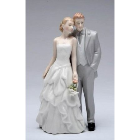 Wedding Couple Bride and Groom Ceramic Figurine
