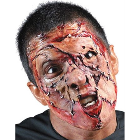 Stitched Face Foam Appliance Adult Halloween Prosthetic - Prosthetics Face Halloween
