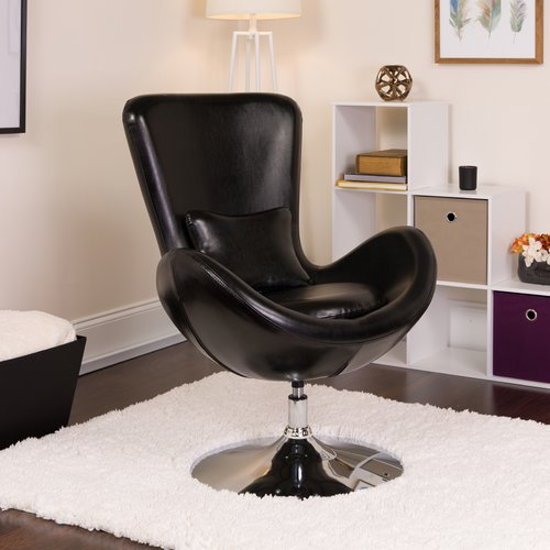 Orren Ellis Palisades Leather Lounge Chair