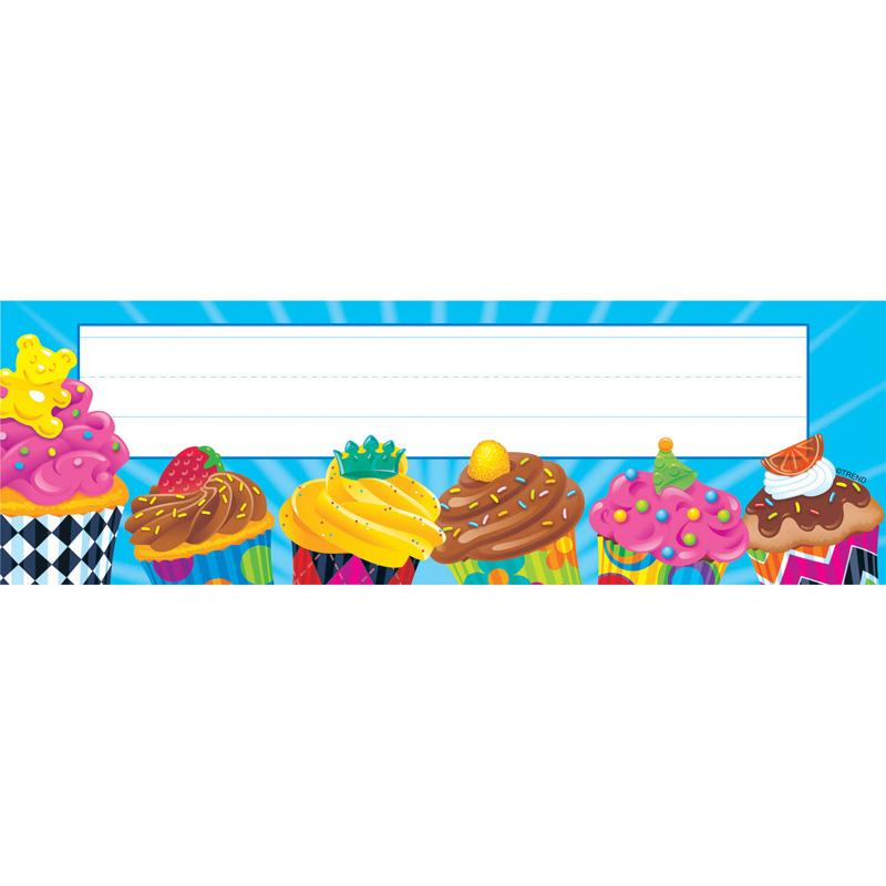 BAKE SHOP CUPCAKES DESK TOPPERS NAME PLATES