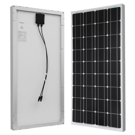 Renogy 100W 12V Solar Panel Monocrystalline Off Grid Battery Charging for RV/Boat/Cabin Applications