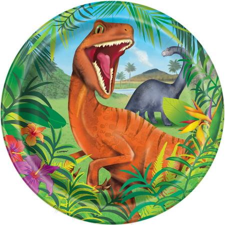 Dinosaur Paper Dinner Plates, 9in, 24ct - Dinosaur Plates