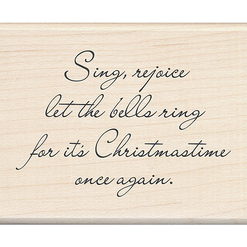 "Inkadinkado Christmas Mounted Rubber Stamp, Let The Bells Ring 2.25"" x 2.75"""