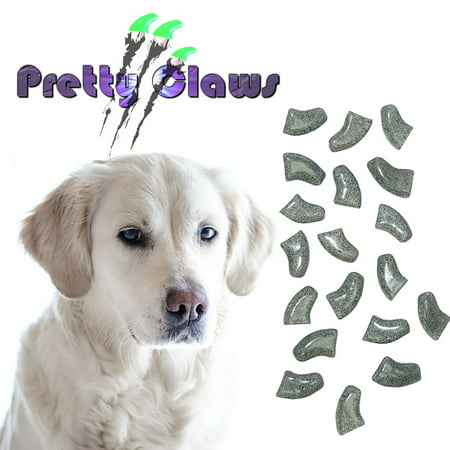 120 Pack Smokey Glitter Soft Nail Caps for Dogs Pretty Claws - - Claw Nails Buy