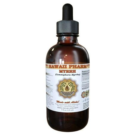 Myrrh (Commiphora Myrrha) Tincture, Organic Dried Gum Resin Liquid Extract, Gum Myrrh, Herbal Supplement 2 oz (Myrrh Extract Liquid)
