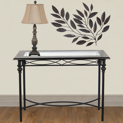 Legacy Home Console Table with Lamp Set