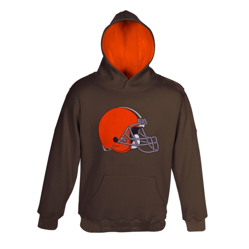 Cleveland Browns Toddler Fan Gear Primary Logo Pullover Hoodie - Brown