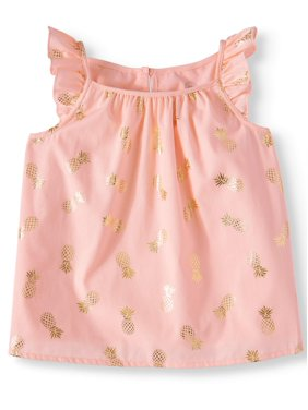 6864a86eec7a7e Product Image Wonder Nation Ruffle Sleeve Top (Toddler Girls)