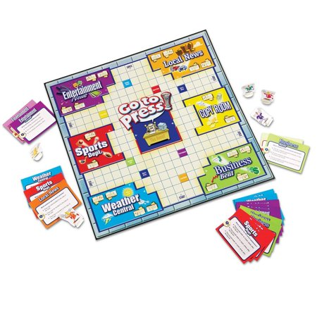 Go to Press A Grammar and Editing Game, A grammar building board game - Grammar Review Games
