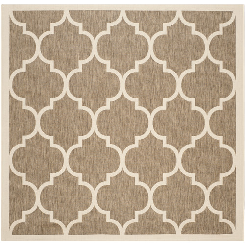 Safavieh Courtyard Brown Indoor Outdoor Rug - Square 7'10""