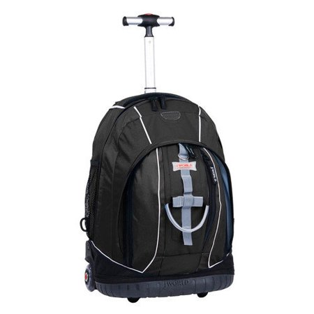 J World New York Twinkle Light up Wheel Rolling Backpack 8158b914967