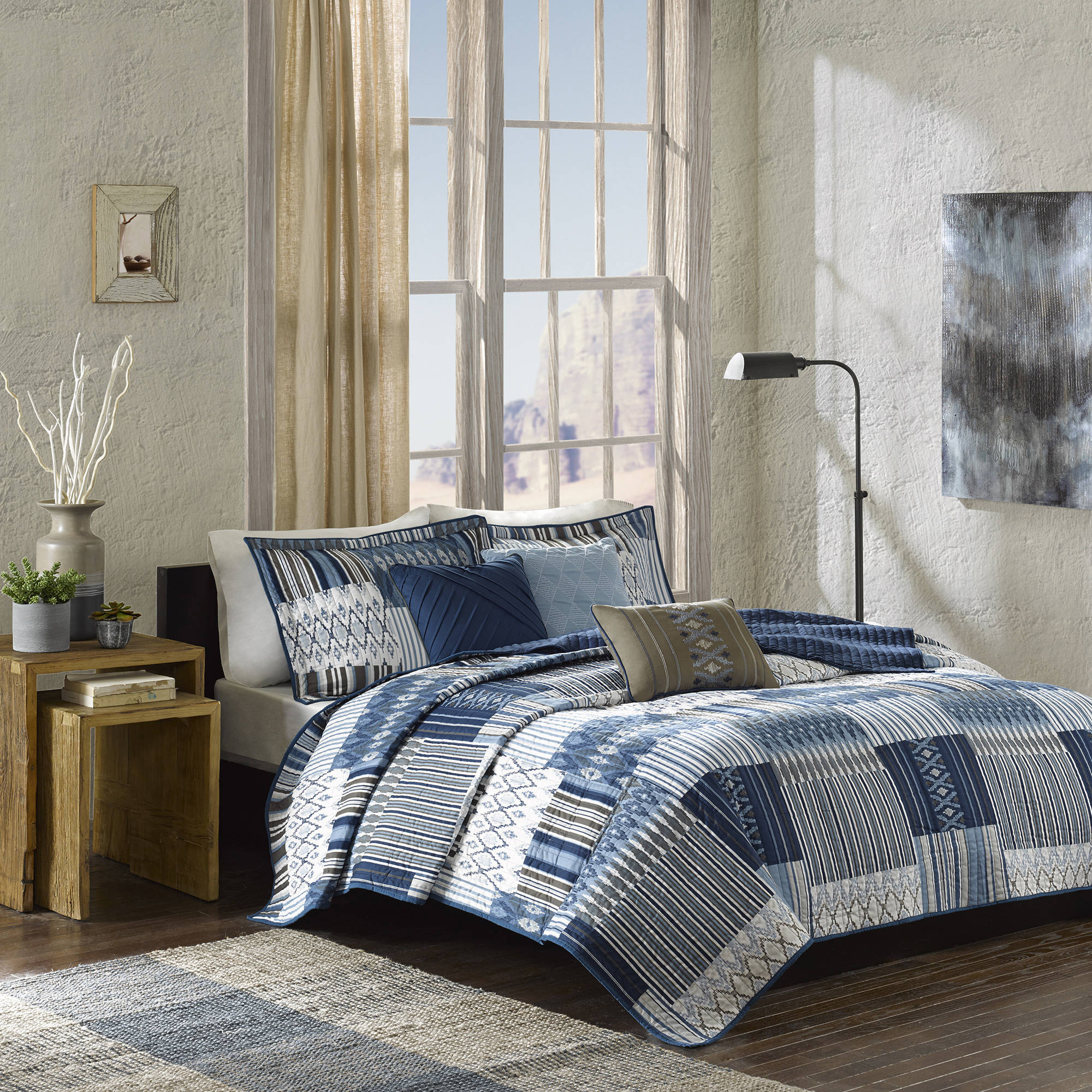 Click here to buy Home Essence Mills Quilted Coverlet Set by E&E Co..