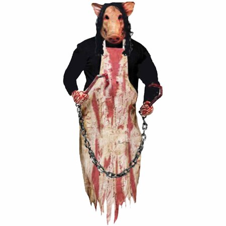 Butcher Pig 36 inch Hanging Prop Halloween Decoration