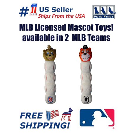 Pets First MLB Detroit Tigers Mascot Toy for Cats & Dogs