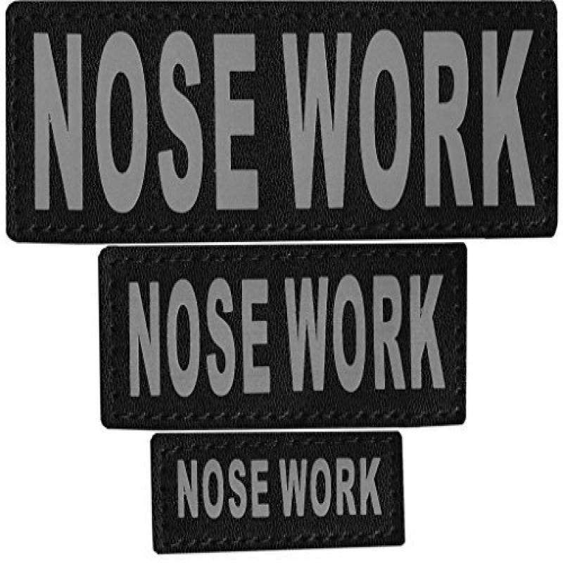 "Removable Velcro Patches ""NOSE WORK"""