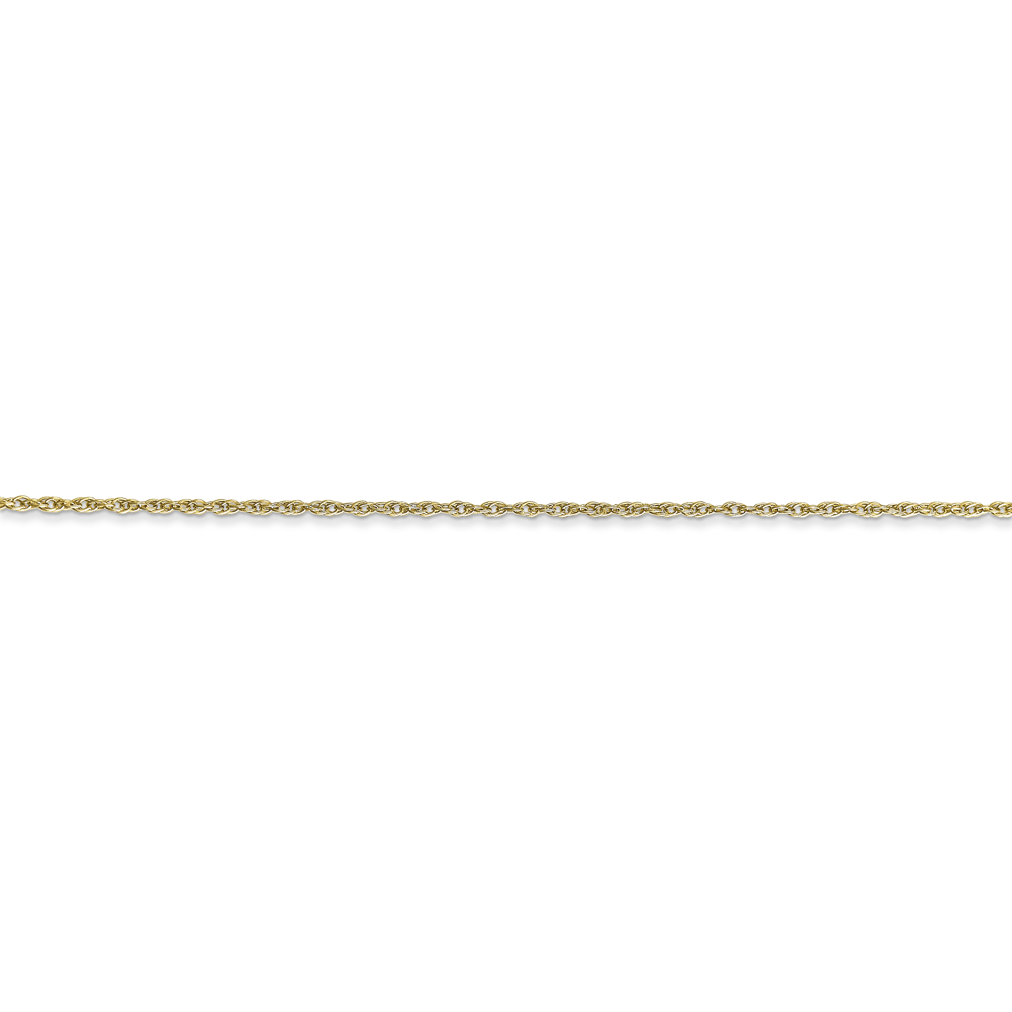 10k White Gold .8mm Lite Baby Link Rope Chain Necklace 18 Inch Pendant Charm Fine Jewelry For Women Gifts For Her