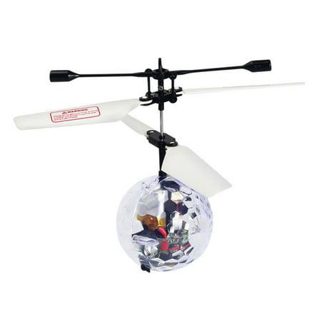 Kid's Flying Ball Luminous Flight Balls Electronic Intelligent Induction Toys LED Light Mini Helicopter (Pentangle Light Flight)