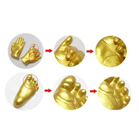 Smart Novelty 3D Plaster Handprint Footprint Baby Mould Hand&Foot Casting Prints Kit Cast Gift ()