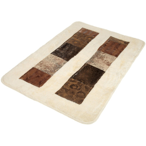 Sweet Home Collection Zambia Banded Bath Rug