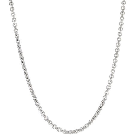 Italian Sterling Silver Rolo Chain Necklace, 16