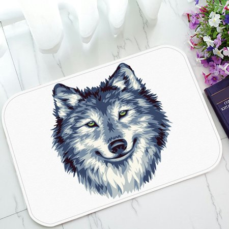 - PHFZK watercolor Doormat, Blue Wild Wolf Doormat Outdoors/Indoor Doormat Home Floor Mats Rugs Size 23.6x15.7 inches