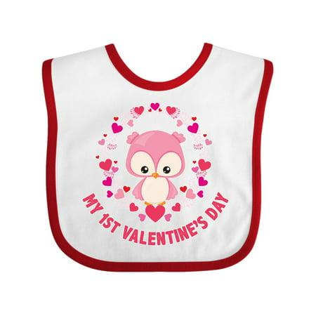 My First Valentine's Day Owl Baby Bib](Valentine Owl)