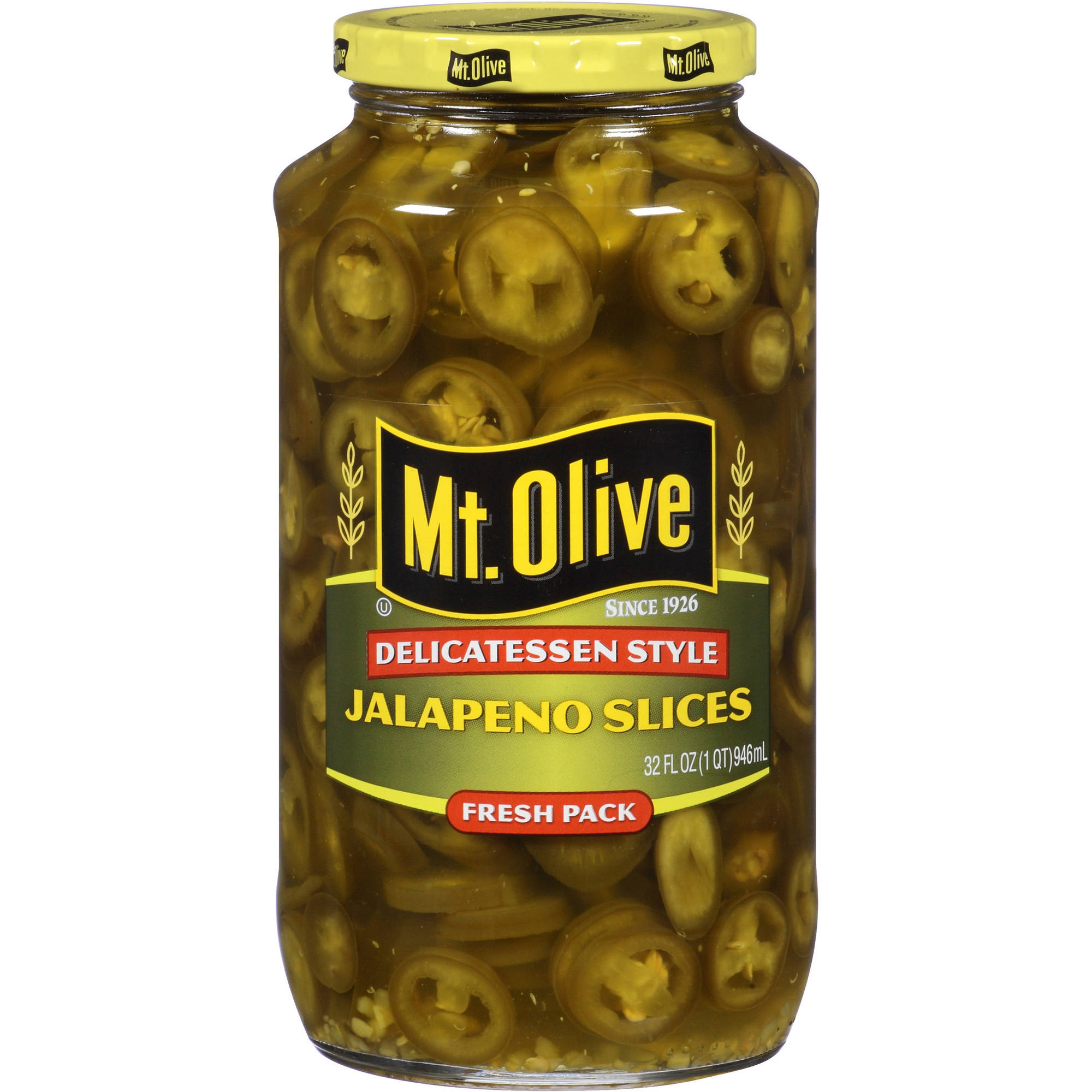 Mt. Olive Jalapeno Slices, 32 fl oz