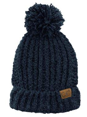 186aefa0db4 Product Image C.C Women s Chenille Soft Stretchy Pom Cuffed Knit Beanie Cap  Hat-Ivory