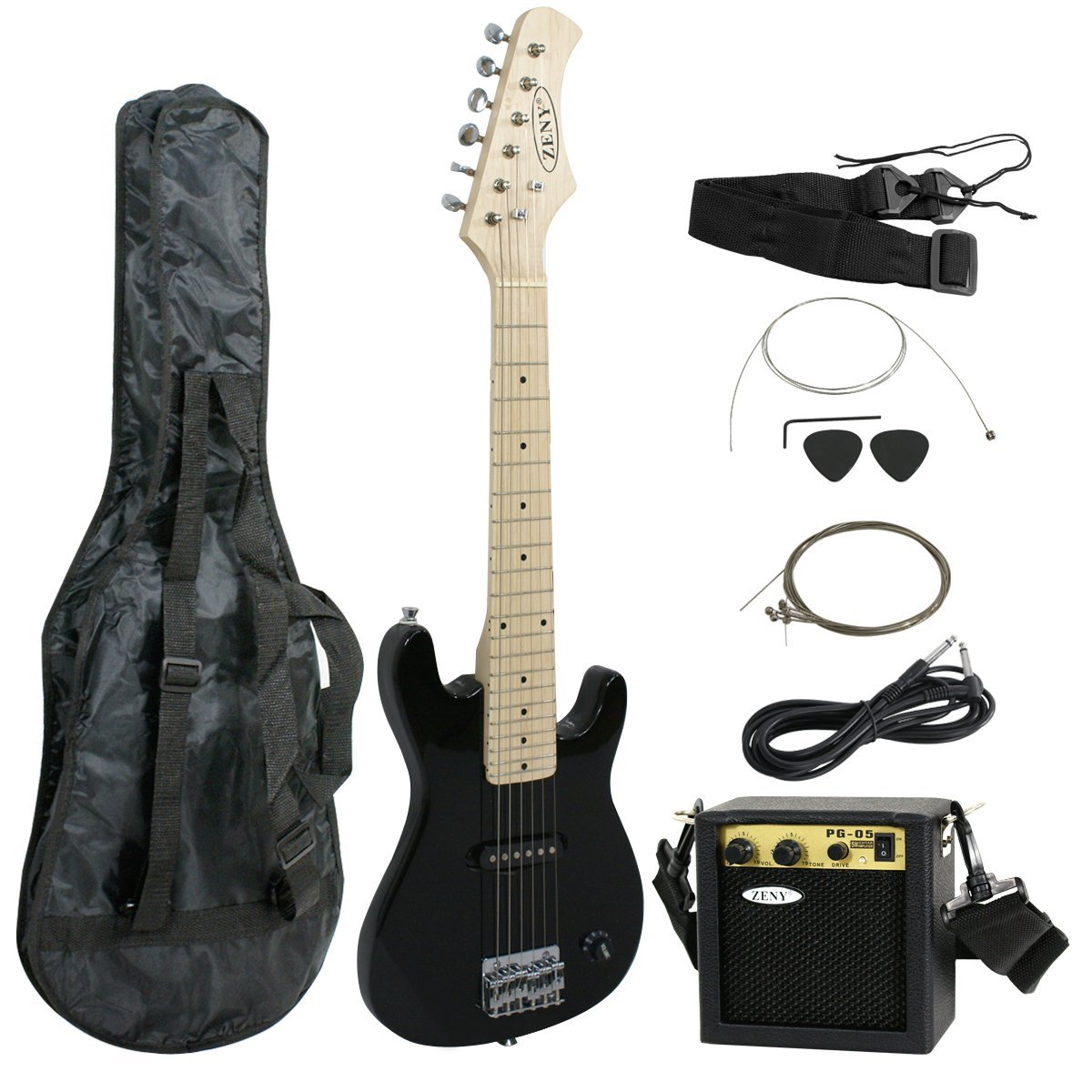 "Zeny 30"" Inch Kids Electric Guitar With 5W Amp Cable Cord shoulder strap New"