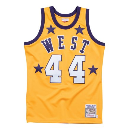 Jerry West 1972 NBA All Star West Mitchell   Ness Authentic Gold Jersey  Men s - Walmart.com 6e3795b0f