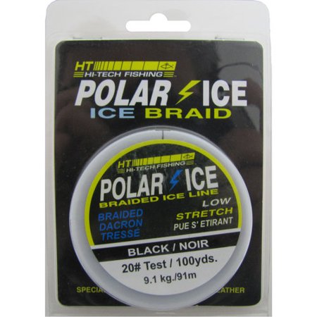 Ht polar ice 40 lb 100 yards braided ice fishing line for Walmart braided fishing line