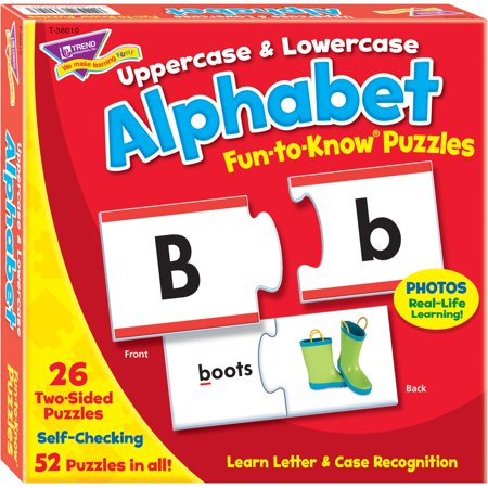- Trend, TEP36010, Upper/Lowercase Alphabet Puzzle Set, 52 / Each, Multicolor