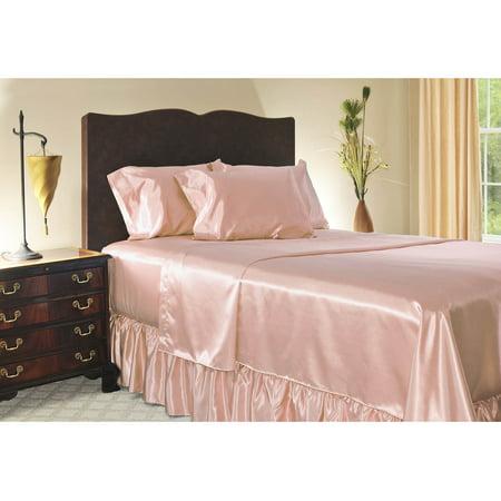 satin fitted sheet. Black Bedroom Furniture Sets. Home Design Ideas