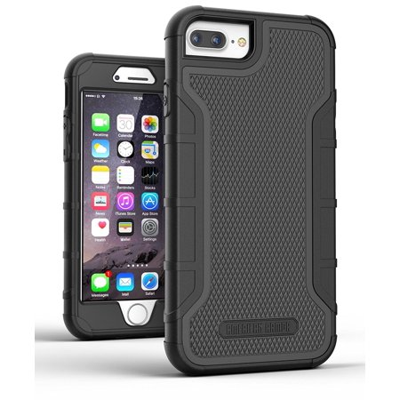 iPhone 7 Plus Tough Case w/ Built in Screen Protector, American Armor²(Heavy Duty)Rugged Hybrid Case for Apple iPhone7 5.5' [Military Grade Protection] (Best Tough Iphone 4 Case)