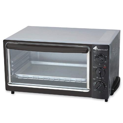 CoffeePro Original Gourmet Black Toaster Oven