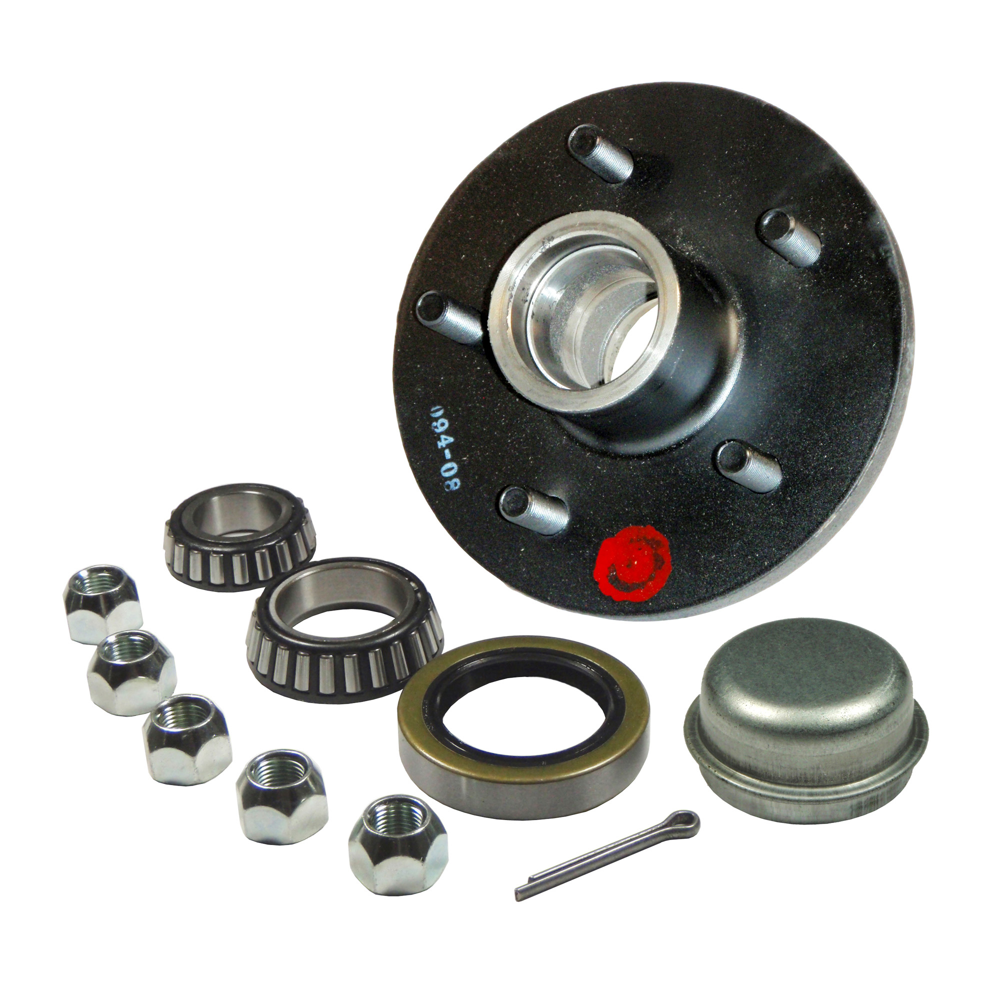 """2 Trailer Hub Kits fits 1-3//8/"""" to 1-1//16/"""" Spindle with 5 on 5 Bolt Pattern"""