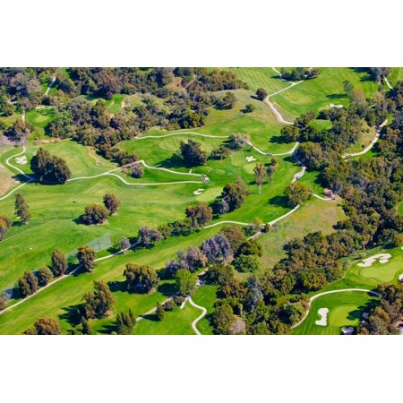 - Aerial view of Ojai Valley Inn Country Club Golf Course in Ventura County Ojai California Poster Print by Panoramic Images