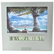 Retirement Countdown Clock with Large Display Digital Timer & 4x6 Picture Frame, Change Photo & Count Down to Vacation Wedding Christmas Halloween