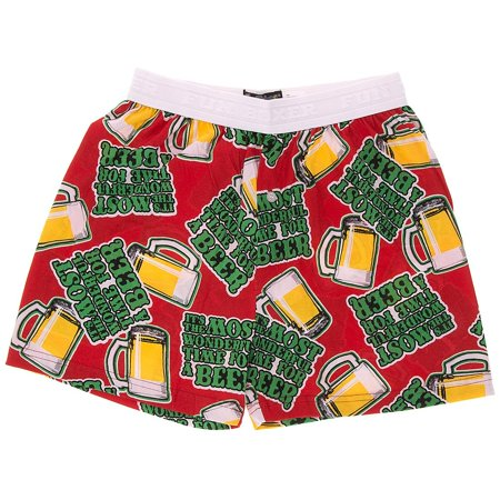 Red Time for a Beer Christmas Boxer Shorts for Men