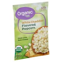 Great Value Organic Gluten-Free White Cheddar Flavored Popcorn, 4.4 Oz.