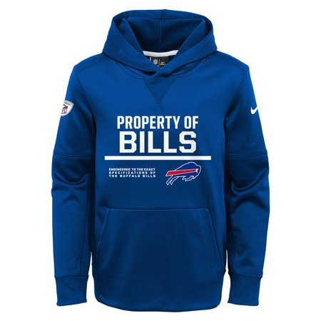 Buffalo Bills Nike Youth Property Of Circuit Performance Hoodie - Royal ()