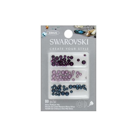 Cousin Swarovski Flatback Mix Blue Purple 80Pc - image 1 de 1