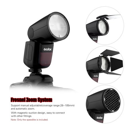 Godox V1F Professional Camera Flash Speedlite Speedlight Round Head Wireless 2.4G for Fuji Fujifilm X-Pro2 X-T20 X-T2 X-T1 GFX50S GFX50R Cameras for Wedding Portrait Studio Photography - image 5 of 7