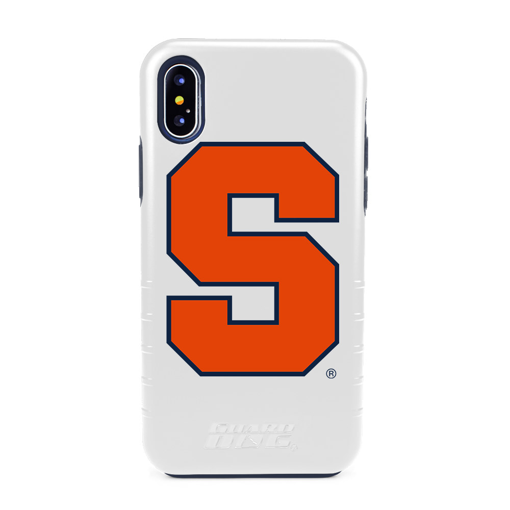 Syracuse Orange Hybrid Case for iPhone X / Xs - White